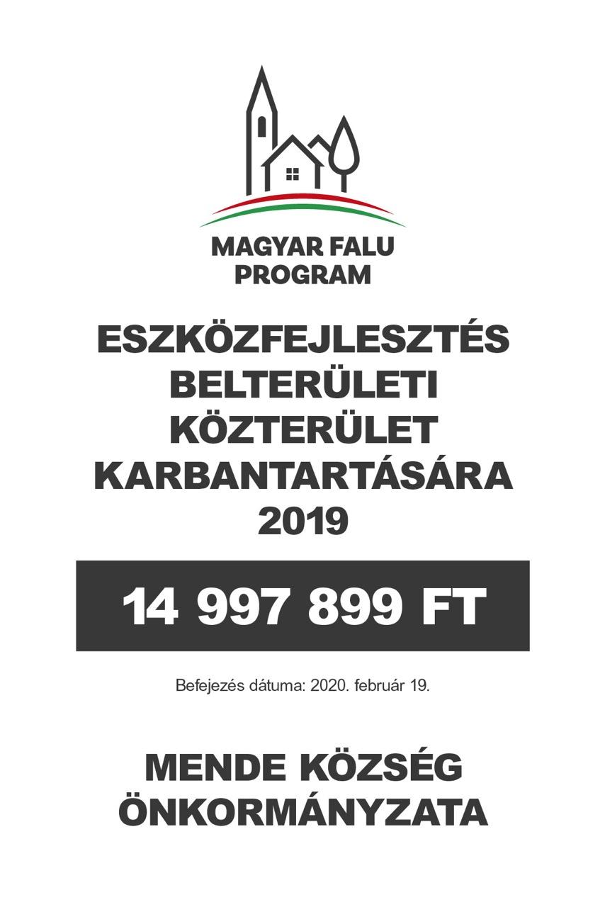Eszközfejlesztés belterületi közterület karbantartására 2019